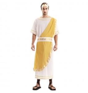 Costume da Imperatore Romano dorato per uomo