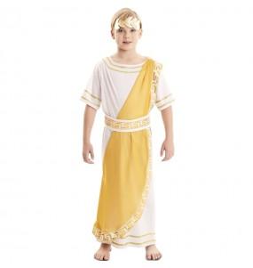Costume da Imperatore romano dorato per bambino