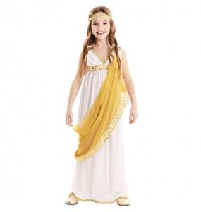 Costume da Imperatrice romana dorata per bambina
