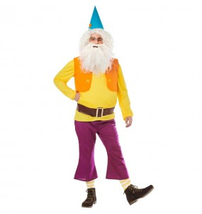 Costume da Nano Biancaneve Giallo per adulto