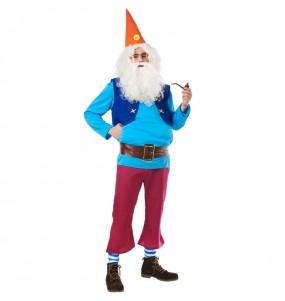 Costume da Nano Biancaneve Blu per adulto