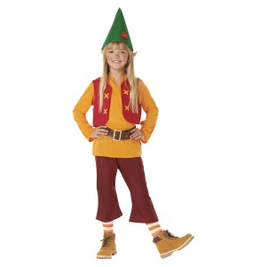 Costume da Nano Biancaneve Arancione per bambino