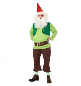 Costume da Nano Biancaneve Verde per adulto