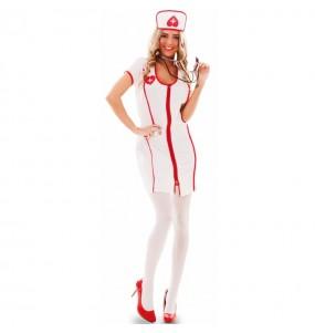 Travestimento infermiera sexy economico donna per divertirsi e fare festa