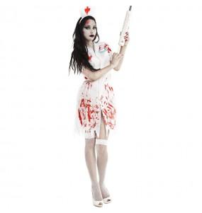 Costume da Infirmiera Zombie insanguinata per donna
