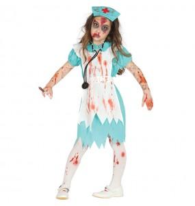 Vestito Infermiera insanguinata bambine per una festa ad Halloween