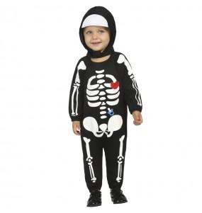 Costume da Scheletro con cappuccio per neonato