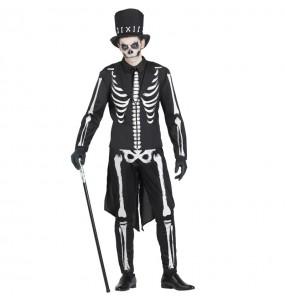 Travestimento Scheletro Elegante adulti per una serata ad Halloween