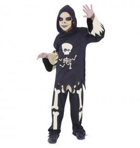 Costume da Scheletro con occhi mobili per bambino