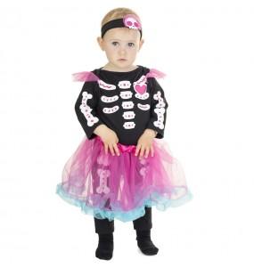 Costume da Scheletro con tutù rosa per neonato