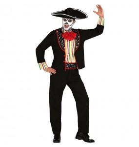 Travestimento Scheletro giorno dei morti adulti per una serata ad Halloween