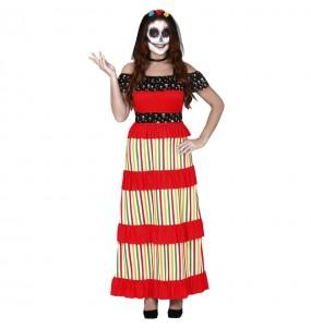 Costume Scheletro giorno dei morti donna per una serata ad Halloween