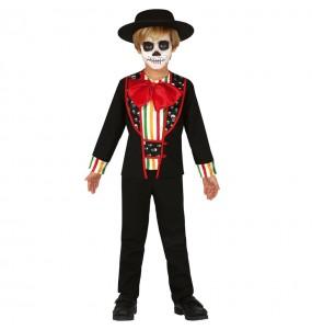 Travestimento Scheletro giorno dei morti bambini per una festa ad Halloween