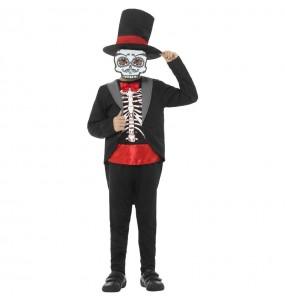 Costume da Scheletro messicano Catrin per bambino