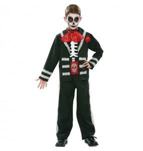 Costume da Scheletro messicano nero per bambino