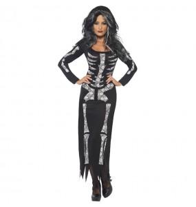 Costume da Scheletro nero per donna
