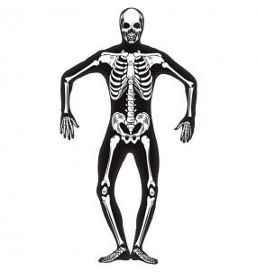 Costume da Scheletro seconda pelle per uomo