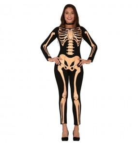 Costume Scheletro Skull donna per una serata ad Halloween