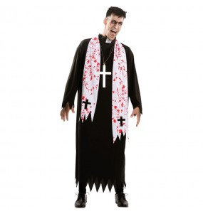 Travestimento Prete religioso zombie adulti per una serata ad Halloween