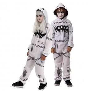 Travestimento Fantasma kigurumi bambini per una festa ad Halloween