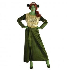 Travestimento Fiona Shrek donna per divertirsi e fare festa