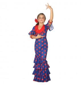 Travestimento Flamenca blu bambina che più li piace