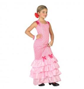 Travestimento Flamenca Rosa bambina che più li piace