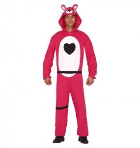 Travestimento Fortnite Orso rosa adulti per una serata in maschera