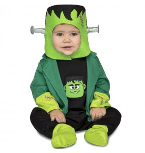 Travestimento Frankenstein neonati con il quale il tuo bambino farà paura