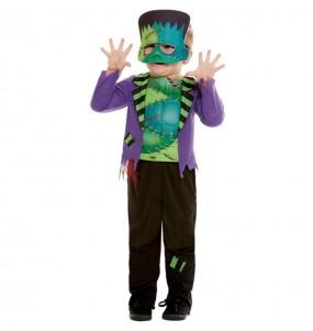 Costume da Frankenstein verde per neonato