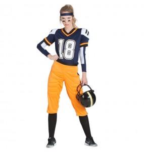 Travestimento Football Americano NFL donna per divertirsi e fare festa