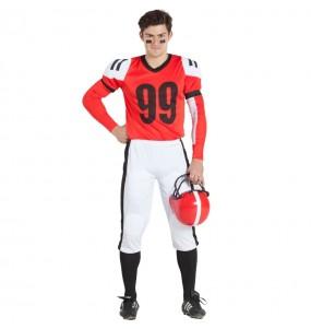 Travestimento Football Americano Rosso adulti per una serata in maschera