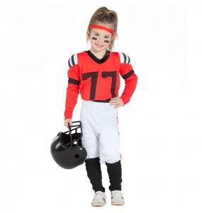 Travestimento Football Americano Rosso bambina che più li piace