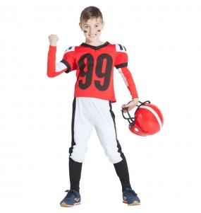 Travestimento Football Americano Rosso bambino che più li piace