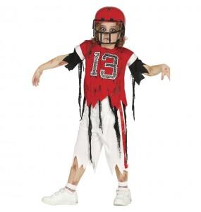 Travestimento Giocatore di football americano zombie bambini per una festa ad Halloween