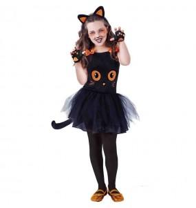 Costume da Gatto nero con tutù per bambina
