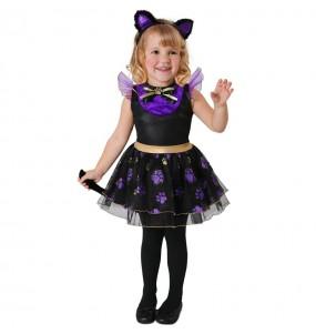 Costume da gatto viola per neonato