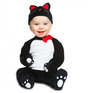 Costume da gatto nero per neonato