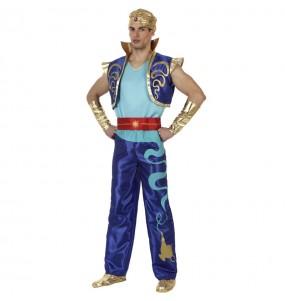Travestimento Genio di Aladdin adulti per una serata in maschera