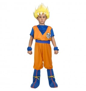Travestimento Goku Super Saiyan Dragon Ball bambino che più li piace
