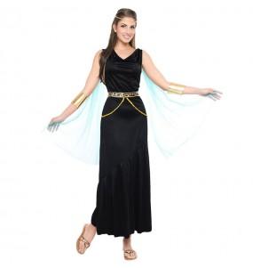 Travestimento Greca Nera donna per divertirsi e fare festa