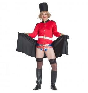 Travestimento Guardia Inglese Esibizionista adulti per una serata in maschera