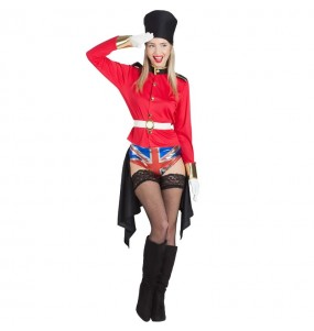 Travestimento Guardia Inglese Esibizionista donna per divertirsi e fare festa