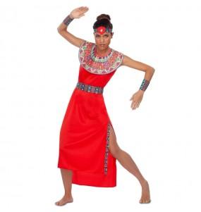Travestimento Guerriera Tribù Masai donna per divertirsi e fare festa