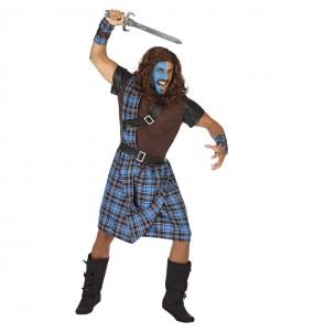 Costume da Guerriero scozzese blu per uomo