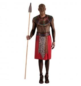 Travestimento Guerriero Masai adulti per una serata in maschera