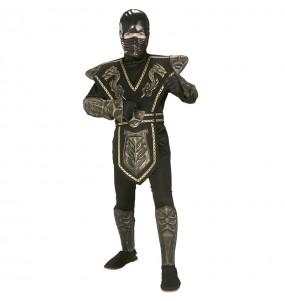 Costume da Guerriero ninja dorato per bambino