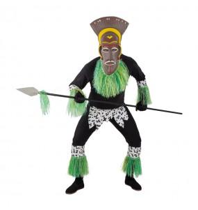 Travestimento Guerriero Zulu adulti per una serata in maschera
