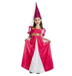 Costume da Fata medievale rosa per bambina