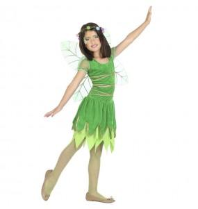 Costume da Fata verde con ali per bambina